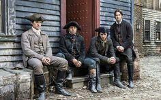 Henry Thomas as John Adams, Michael Raymond-James as Paul Revere, Ben Barnes as Sam Adams and Ryan Eggold as Joseph Warren ♡ #SonsOfLiberty