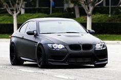 BMW in matte black. What a beauty. Bmw M3 Wallpaper, E92 335i, Bmw M3 Convertible, 2006 Bmw M3, Bmw M3 Coupe, Bmw Performance, 135i, Bmw Love, Bmw 3 Series