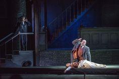 - Premiere night (20 february) / Seara premierei (20 februarie) - Shoushik Barsoumian (Gilda) & Lucian Petrean (Rigoletto) in prim plan / forefront & Robert Nagy (ducele/the duke)