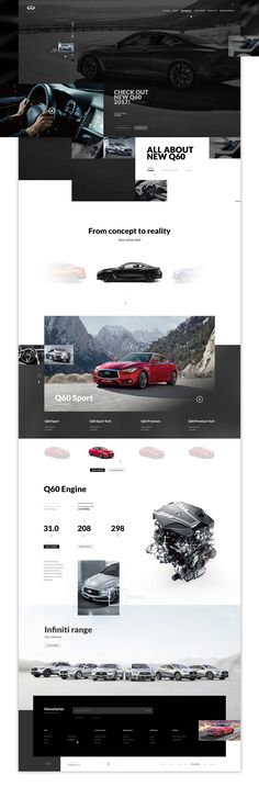 As a huge fan of infiniti cars I decided to create (as a private project) a website concept for them. #infiniti #cars #website #web #q60 #onepage