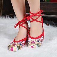 Women's Shoes Old Peking Ankle Strap Flat Heel Ca... – USD $ 27.99