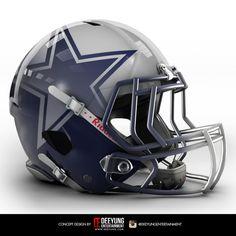 Dallas Cowboys helmet redesigned.