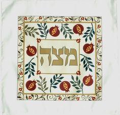 Carmel Gifts - Passover Satin Matzah Cover , $34.90 (http://www.carmelgiftshop.com/passover-pessach/matzah-covers-and-matzah-plates/passover-satin-matzah-cover/)