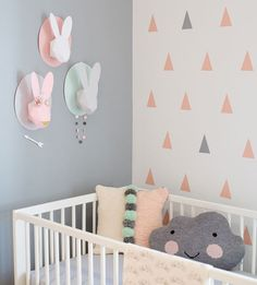 Triangle-Wall-Design-Gender-Neutral-Baby-Room-Home-Decor-Baby-Nursery-Room Inspiration