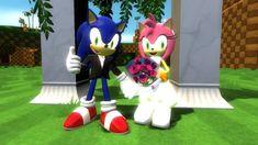 SonAmy Wedding by CyotheLion on DeviantArt Sonic And Amy, Sonic Fan Art, Elsa Anna, Birthday Candles, Sonic The Hedgehog, Deviantart, Wedding, Fanart, Friends