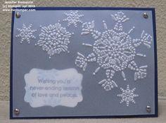 Northern Flurries Vellum Embossed Card