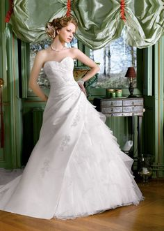 Miss Kelly A Line Organza Empire Fully Lined Lace Sweetheart Wedding Dresses Ed Weddingdresses