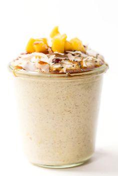 Mango Buckwheat Porridge -- an overnight breakfast recipe that takes practically ZERO time to make and tastes incredible!