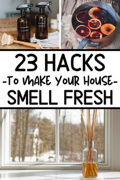 How to make your house smell good, all the time! These easy DIY ideas are simple home and life hacks to make your house smell fresh and amazing always. Diy Home Cleaning, House Cleaning Tips, Cleaning Hacks, Cleaning Lists, Daily Cleaning, Cleaning Checklist, Cleaning Recipes, Bathroom Cleaning, Cleaning Products