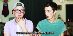 According to Troye, what is the first thing Tyler ever said to him?