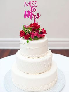 Miss to Mrs-Customized Wedding Cake Topper *Celebrate the lovely bride to be at her bridal shower with great party decor. A cake topper sign that can also be used for your engagement party to welcome your guest to browse the dessert table. Know someone getting hitched?