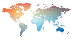 Map of the world in triangles. Raster 1