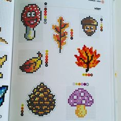 Autumn perler bead patterns by parlfrugan