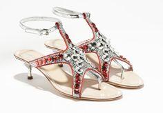 Miu Miu Crystal Sandals