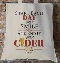 Rhythm & Booze Personalised Cider Tote Bag