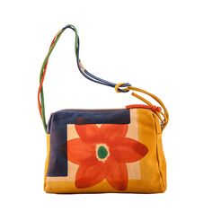 ASTORE BAG Acquerello Natural Flower  - Genuine Leather 100% - HANDPAINTED - Made in Italy