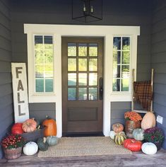 Jenny Cookies on Instagram | Fall Front Porch | Entry