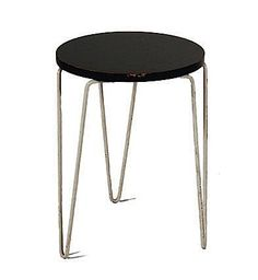 Florence Knoll; Painted Wood and Metal Stool, c1950.