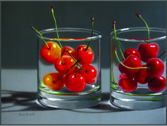 Cherries In Two Glasses, sold, prints available
