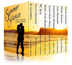 ❣⭐️RELEASING⭐️❣           JUNE 21st  ❤️Love comes from the most unexpected places and is sweeter when friends turn into lovers.❤️    ☀️SUMMER SOLSTICE☀️  ...gives you NINE, very different, exciting romances, featuring friends who eventually turn into lovers.! Dive into a tantalizing selection of full-length romances that feature sexy heroes and their women who make the leap from the security of friendship to the heat and passion of new-found love  Penned by USA Today and best-selling…