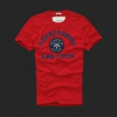 Abercrombie Heren T-shirts Rood 45 be