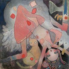 "Aya Takano ""Reintegrating Worlds"" Exhibition Recap Aya Takano, Superflat, Art Folder, Manga Artist, Nature Animals, State Art, American Artists, Illustration Art, Illustrations"