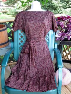 Vintage Boat Neck Pleated dress by Richard Cole by jonscreations  $25.00  #craftshout