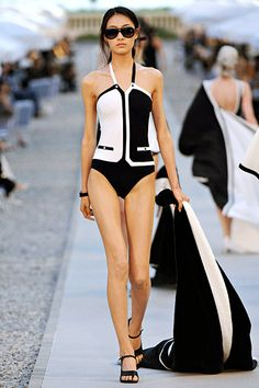 Chanel 2012  swim suit    I would buy this in a heartbeat if only I knew where to look.