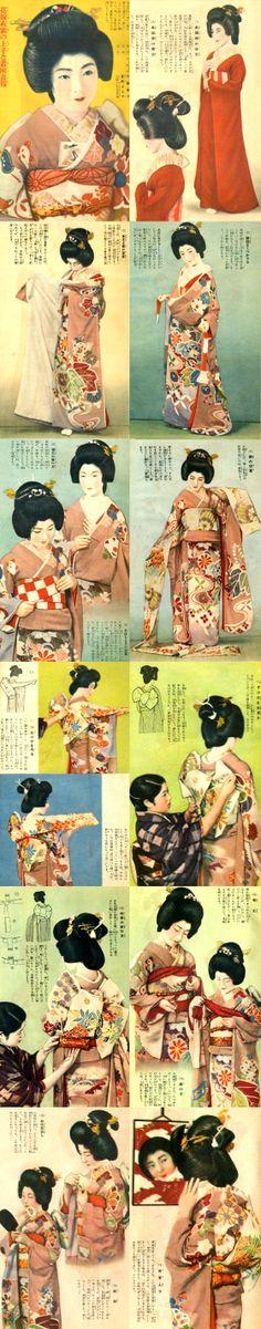 """Shufu-no Tomo(主婦の友)"" magazine March 1934 Appendix . - Dictionary of ""Beauty of Women"" - How to wear Bride's Kimono."