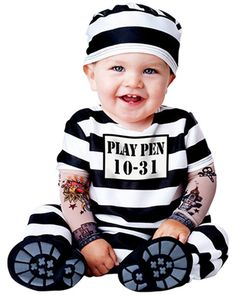 INFANT TODDLER TIME OUT PRISONER COSTUME