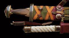 Sutton Hoo sword and Staffordshire hoard seax