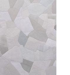 "Stephen Sollins Artist New York  Untitled (Correspondence) 2014 Used envelopes (printed paper); 60-3⁄8"" x 59"" x 1⁄4"""