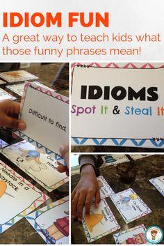 $ A fun way to teach idioms.