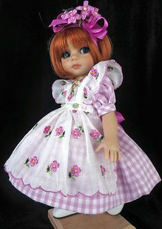 "Dress Fits Tonner Patsy Ann Estelle 10"" Doll Little Charmers Doll Designs 