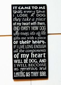 It came to me that every time I lose a Dog by pattisprimitives, $34.00