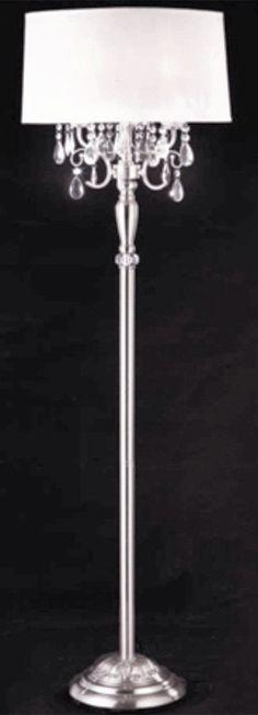 AF Lighting Fulton 59.5 in. Pink Chandelier Floor Lamp | Pink ...