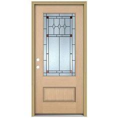 jeld wen front doorsJELDWEN 36 in x 80 in Rosemont 34 Lite Unfinished Hemlock Wood