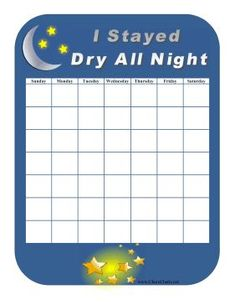 dry nights chart for girls - Google Search