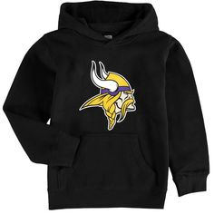 Minnesota Vikings Youth Team Logo Pullover Hoodie - Black - $35.99