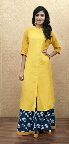 Lemon yellow kurti