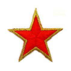€ 1,50 Patch - Strijkplaatje Ster rood goud