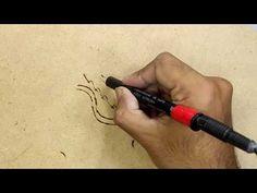 diy Pyrography pen , how to make pyrography pen , homemade pyrography pen Homemade Tables, Make A Table, Branding Iron, How To Make Homemade, Pyrography, Mini, Youtube, Youtubers, Woodburning