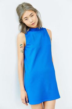 Cooperative Textured Funnel Shift Dress - Urban Outfitters