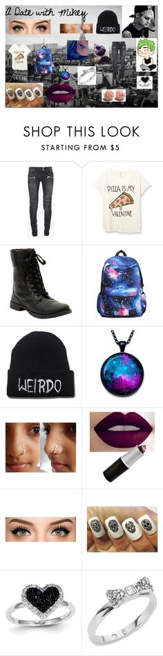 """""""A Date with Michael Clifford"""" by agitae on Polyvore featuring Balmain, Kevin Jewelers and Kate Spade"""