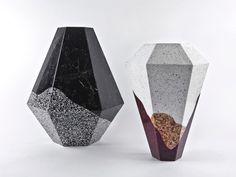 itay laniado shira keret scape vases in caeserstone