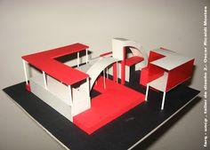 TALLER DE DISEÑO 2 FARQ-UNCP: octubre 2008 Urban Rooms, First Bus, Room Interior, Interior Design, Playground Set, Origami Paper, 3d Design, Bungalow, Loft