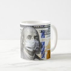 COVID-19 coronavirus in USA, 100 dollar money bill Coffee Mug | Zazzle.com #ThermalTumbler #dollar #American #mug #mugs