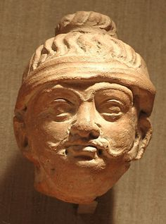 Head of a Male Figure, 6th–7th century. India (Kashmir, possibly Akhnur). The Metropolitan Museum of Art, New York. Gift of Marie-Hélène and Guy Weill, 1975 (1975.414) #mustache #movember