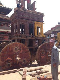 Bhaktapur Nepal wooden chariot