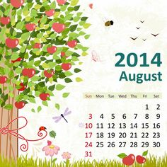 8 August 2014 780x780 2014 Calendar. all Months [12 JPEGs]